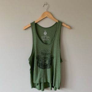 Green Smokey Tank Top